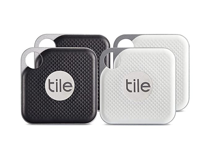 Tile Pro with Replaceable Battery - 4 pack (2 x Black, 2 x White) best drone accessories