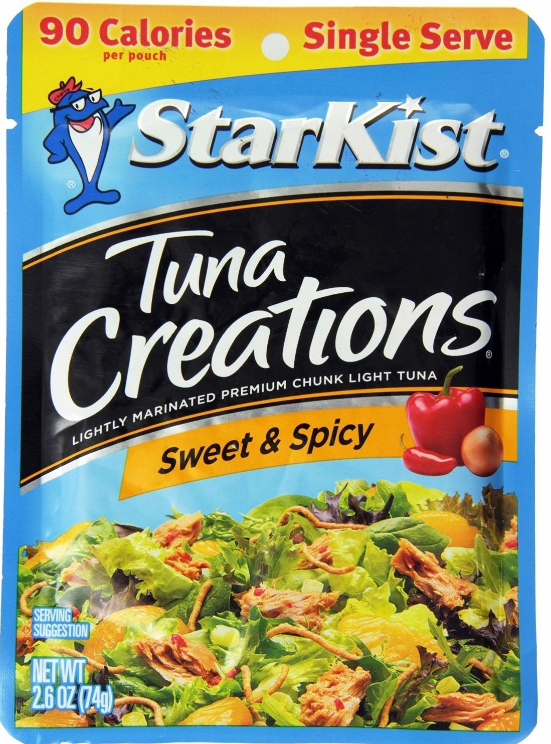 Starkist Tuna Creations, Sweet & Spicy, Single Serve 2.6-Ounce Pouch (Pack of 10) by StarKist