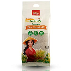 Premium Fine Rice Woven Vermicelli Noodle Sheet by SIMPLY FOOD (Banh Hoi) - Gluten Free, Non-GMO, 100% Natural