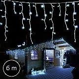 240 LED 6m Tenda luminosa a cascata Luci Natale bianco freddo interno/esterno