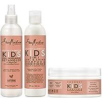 SheaMoisture Kids Shampoo, Detangler and Cream For Moisture and Shine Coconut and Hibiscus Sulfate Free Kids Shampoo and…