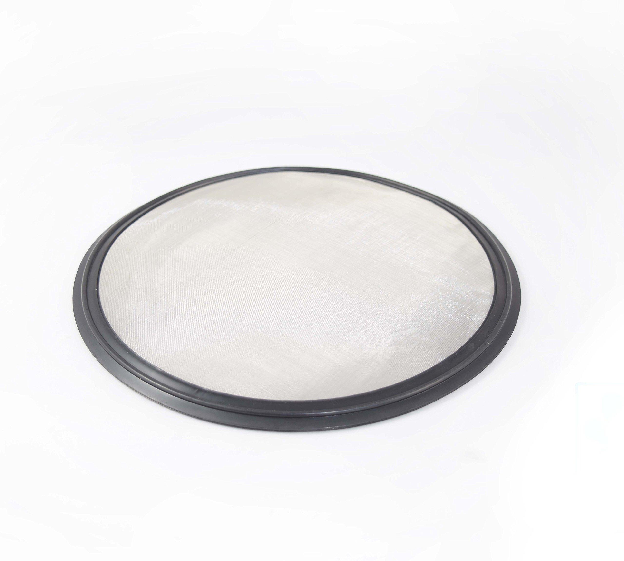 6'' Tri Clamp BUNA-N Screen Filter, Ferrule Gasket 316L 625 Mesh/20Uf Micron Screen Stainless Steel Pharmaceutical Grade Filter Mesh. BUNA-N With Mesh Material! & FDA Certification (6'')