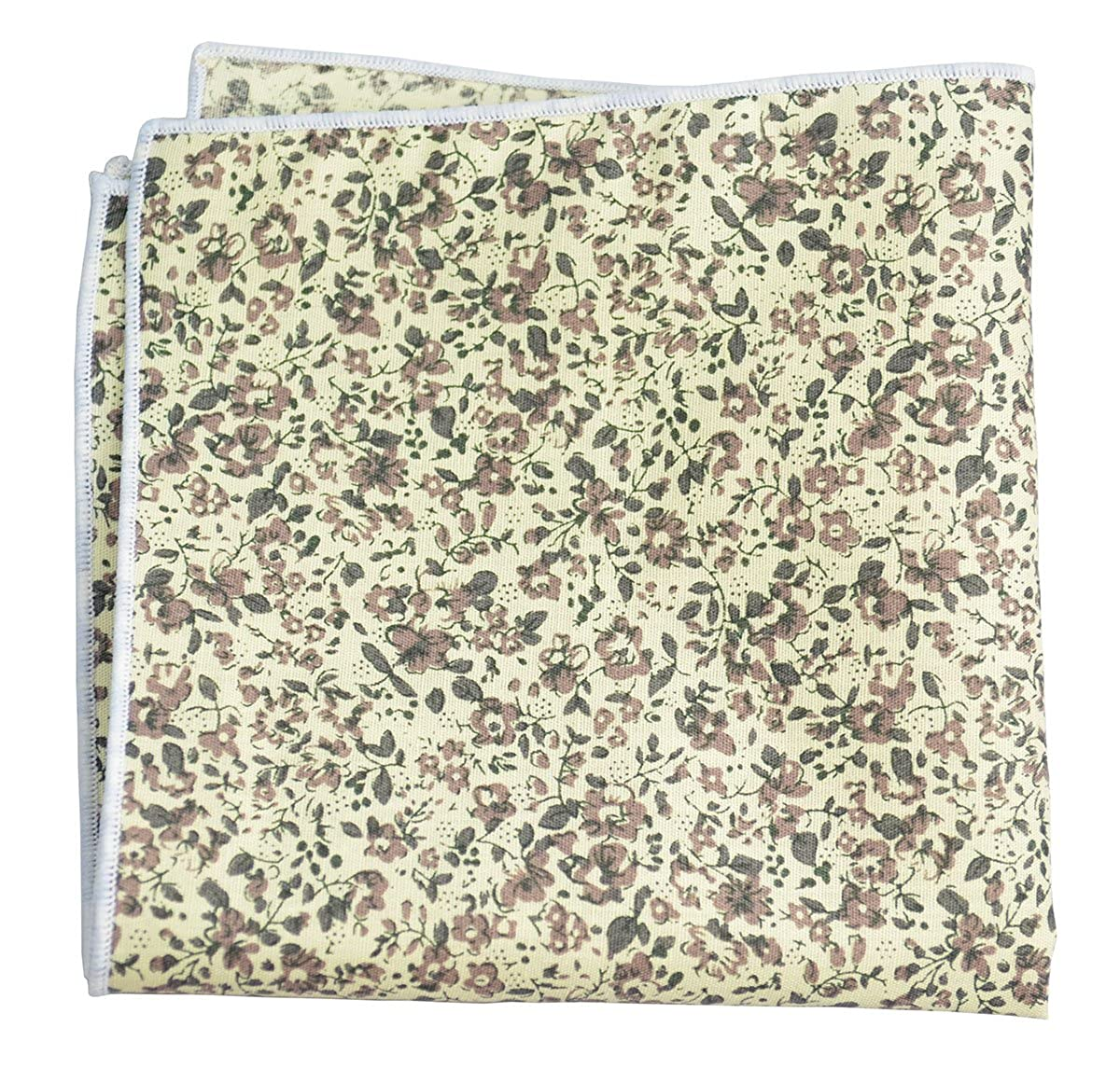 Wisteria Flowered 100/% Cotton Pocket Square Set by Paul Malone