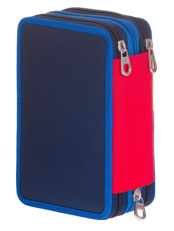 Blu Con materiale scolastico: 18 pennarelli Giotto Turbo Color 18 matite Giotto Laccato/… Astuccio 3 Zip Invicta Kupang