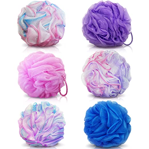 Loofah Bath Sponge Set Of 6 Colors Amazon Lightning Deal