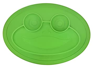 WENTS Baby Plate Bowl Kids Place Mat Childrens Plate Baby Plate Table Sets Infant Tray Non-Slip Silicone Smile Face Dining Table Safe Made of FDA-Certified Silicone