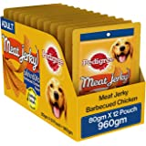 Pedigree Dog Treats Meat Jerky Stix, Barbeque Chicken, 80 g (Pack of 12)