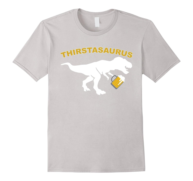 4efc7d4b Funny Dinosaur drinking Shirt T-Rex Beer T-Shirt-ah my shirt one ...