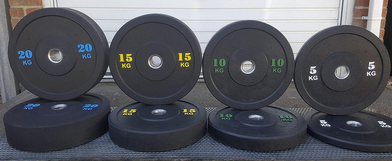 gym weightlifting home gym 100 kg bumper plates set