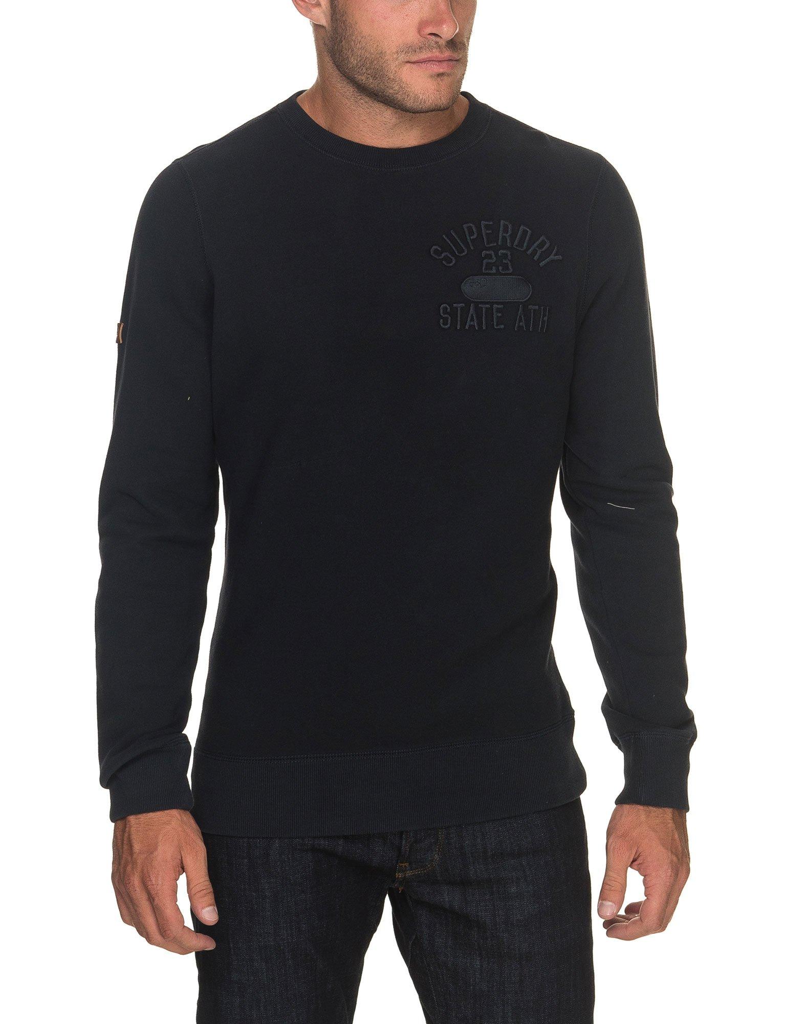 Superdry Men's Applique Men's Blue Blouse With Brand Print In Size XXL Blue