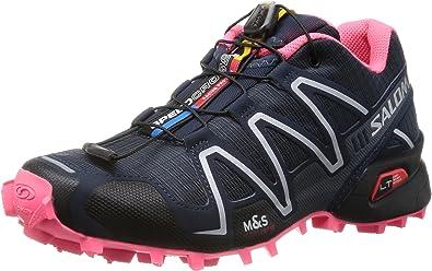 SALOMON Speedcross 3 Zapatilla de Trail Running Señora, Gris/Negro/Rosa, 45 1/3: Amazon.es: Zapatos y complementos