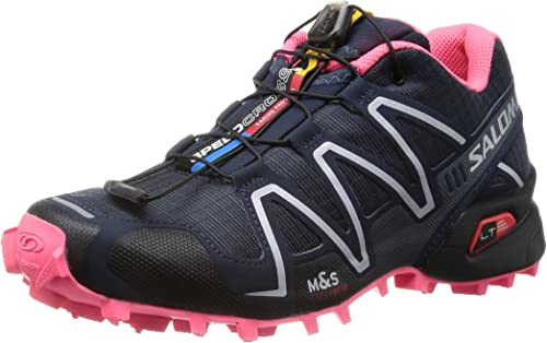 SALOMON Speedcross 3 Zapatilla de Trail Running Señora, Gris/Negro/Rosa, 45 1/3: Amazon.es: Zapatos y complementos
