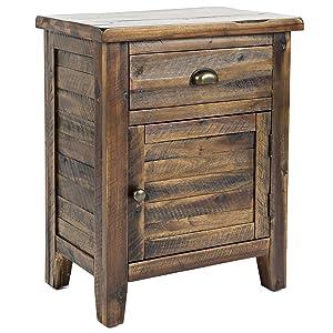 "Jofran 1742-20 Artisan's Craft Accent Table Dakota Oak 20"" W X 13"" D X 25"" H, Finish, (Set of 1)"
