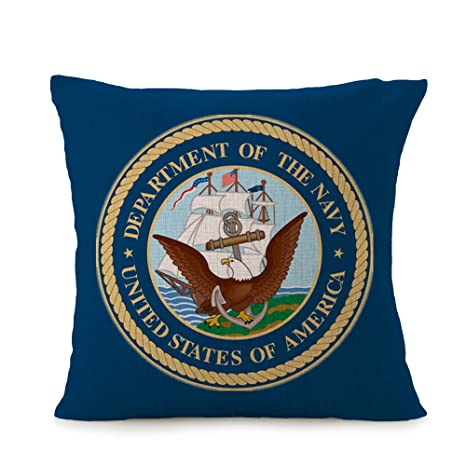 Amazon.com: bayyon U.S. Navy casa decorativa de fundas de ...