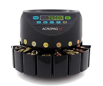 ACROPAQ CC601 – – Contador y de monedas moneda Euro – Funcionamiento Simple – Bandejas Extraíbles