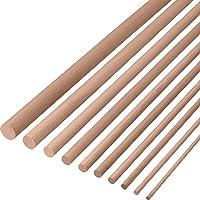 Gedotec beukenhouten ronde stok 16 mm gladde beukenhouten ronde stokjes | lengte van ronde stokjes 2000 mm | stabiele…