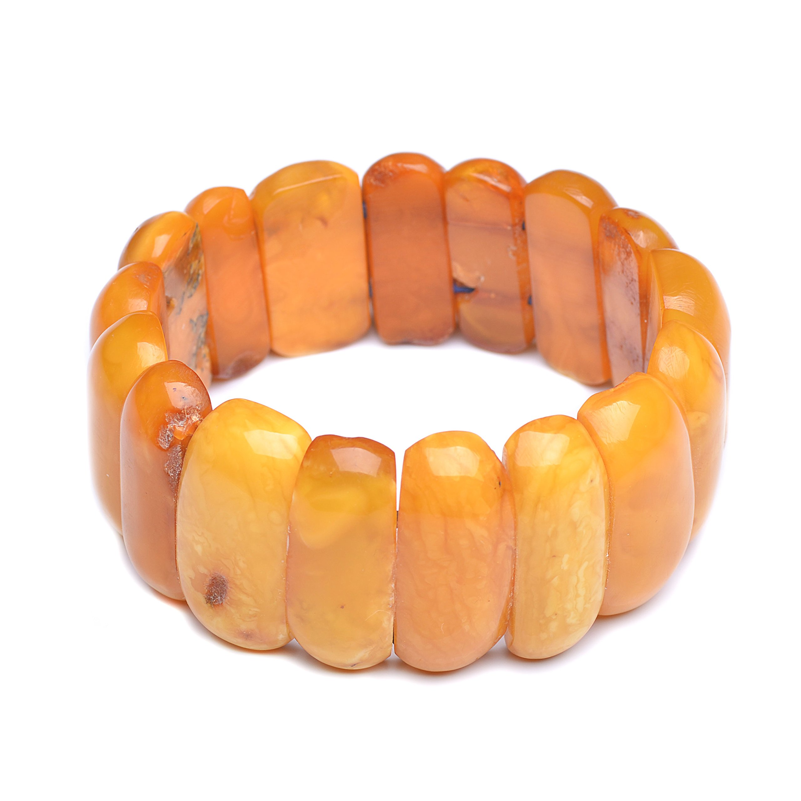 Vintage Amber Bracelet - Unique Amber Bracelet - Certified Handmade Amber Bracelet - Genuine Amber Bracelet (7.9 inches, Butterscotch) by Genuine Amber
