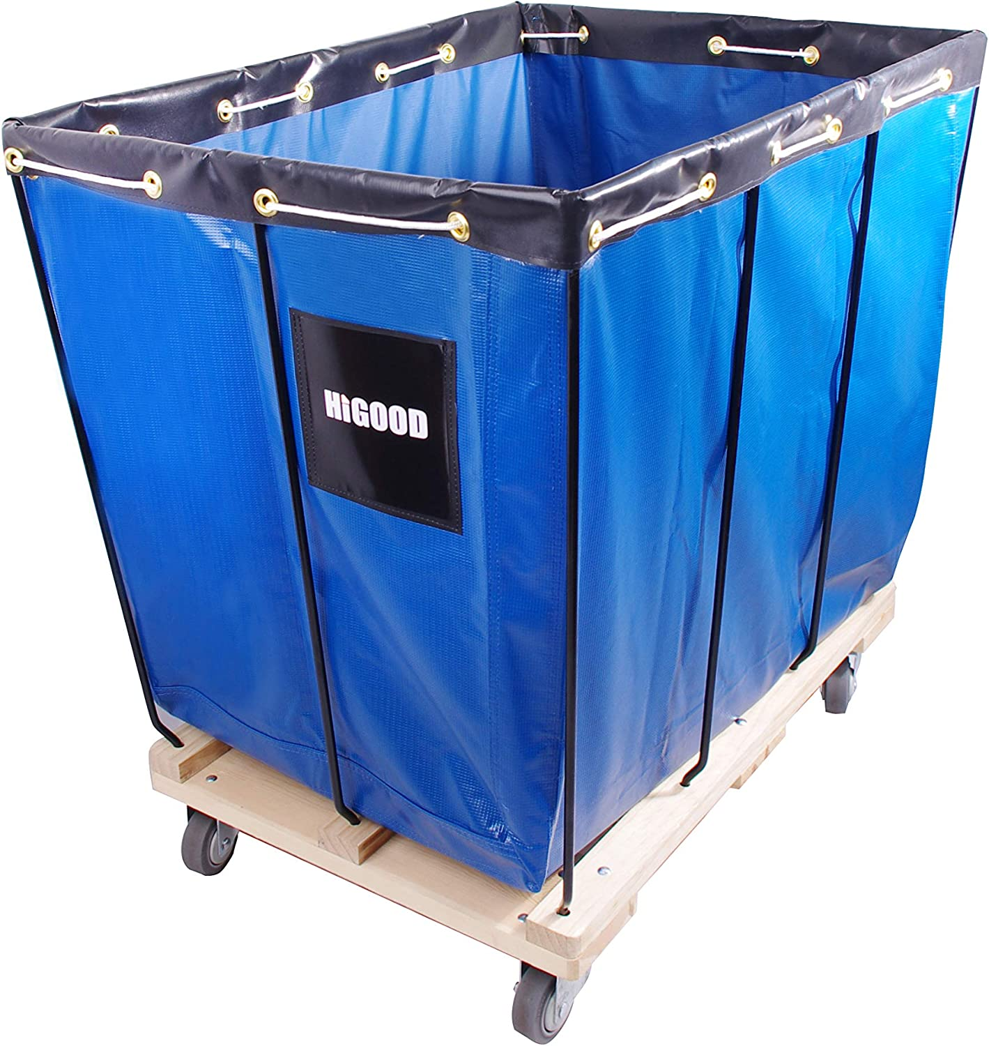 "HIGOOD Basket Trucks Blue 12 Bushel Knock Down Truck, 15.0 cu. ft, 600 lb, 36""L X 26""W X 34""H Capacity"