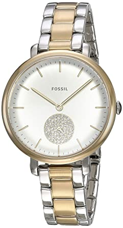 Fossil Womens Jacqueline Quartz Stainless-Steel-Plated Casual watchMulti Color (Model: