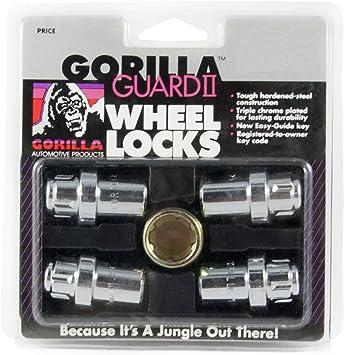 "Wheel Locks Chrome 7//16/"" Mag Wheels Short Shank  with washers and locking tool"