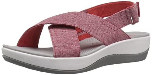 ce820649d Clarks Women s Arla Kaydin Sandal red White Heathered Elastic 050 ...