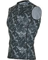 OUTOF Men's Muscle Tank Sleeveless T-Shirts Baselayer Cool Dry Compression Top Running Yoga Rashguard MTN7417
