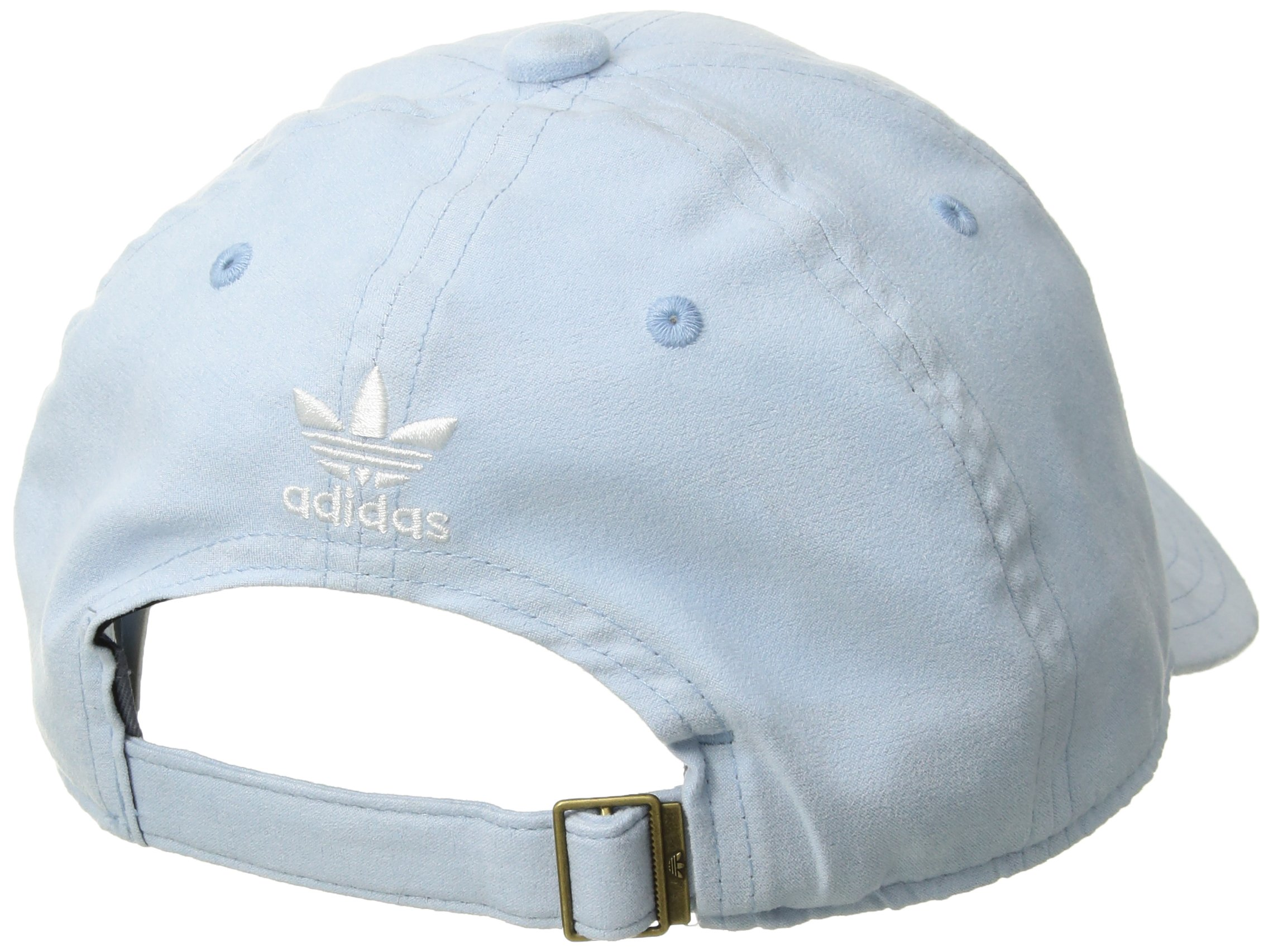 adidas Women's Originals Relaxed Plus Adjustable Strapback Cap, Aero Blue Suede/White, One Size by adidas (Image #2)