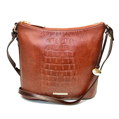 cf38b76ac Image Unavailable. Image not available for. Color: Brahmin Katie Embossed Leather  Crossbody Bag Cordovan Redford