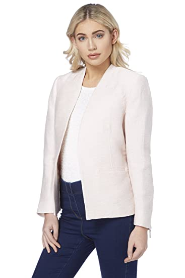 78adcadfadfd Womens White Tailored Fit Smart Office Blazer Jacket - Ladies Mother of The  Bride Groom Lightweight Summer Coat for Wedding  Amazon.co.uk  Clothing
