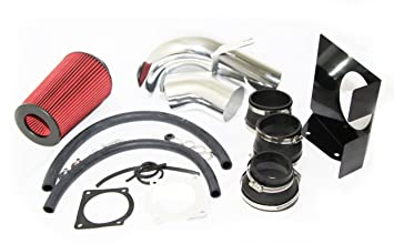 """For 97-03 Ford Expedition F-150 V8 3.5/"""" Air Intake Black Piping Red Air Filter"""