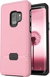 Jaagd Slim Dual-Layer Combo Case for Samsung Galaxy S9, Pink