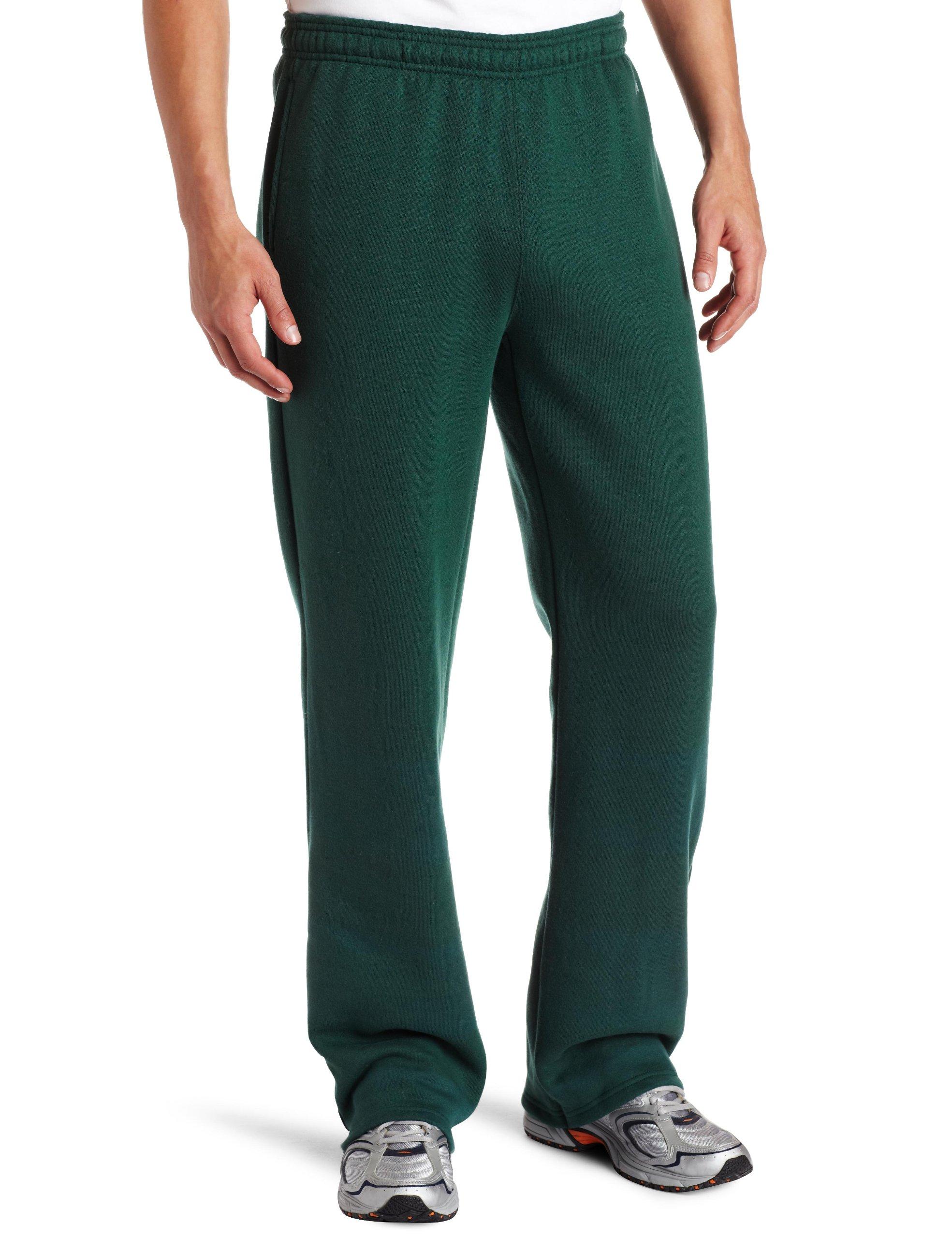 Soffe MJ Men's Training Fleece Pocket Pant, Dark Green, Small