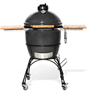 9de98c3b34f Wild Goose18-Inch Kamado with Stainless Steel Grill, Folding Bamboo Shelves  and cart