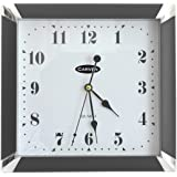 CARVEN 0346040 Square Wall Clock, Black