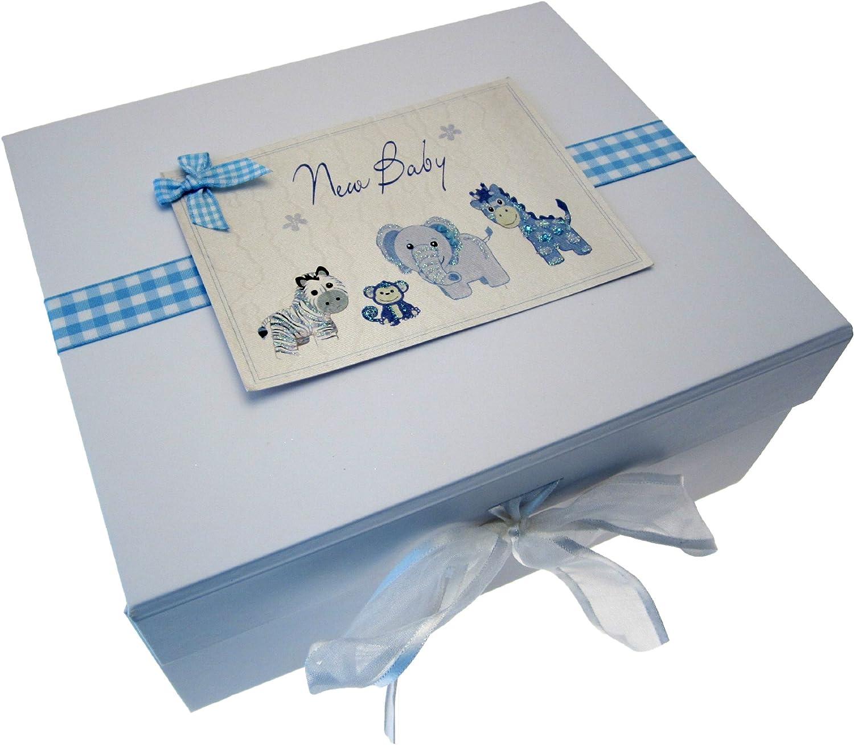 Petit jouets White Cotton Cards Bo/îte souvenir bleu nouveau b/éb/é