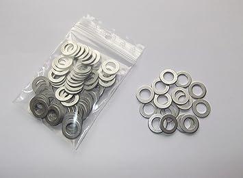 100 Stück Aluminiumringe Dichtringe Dichtung Alu 8x14x1 0 Mm Din 7603 Auto