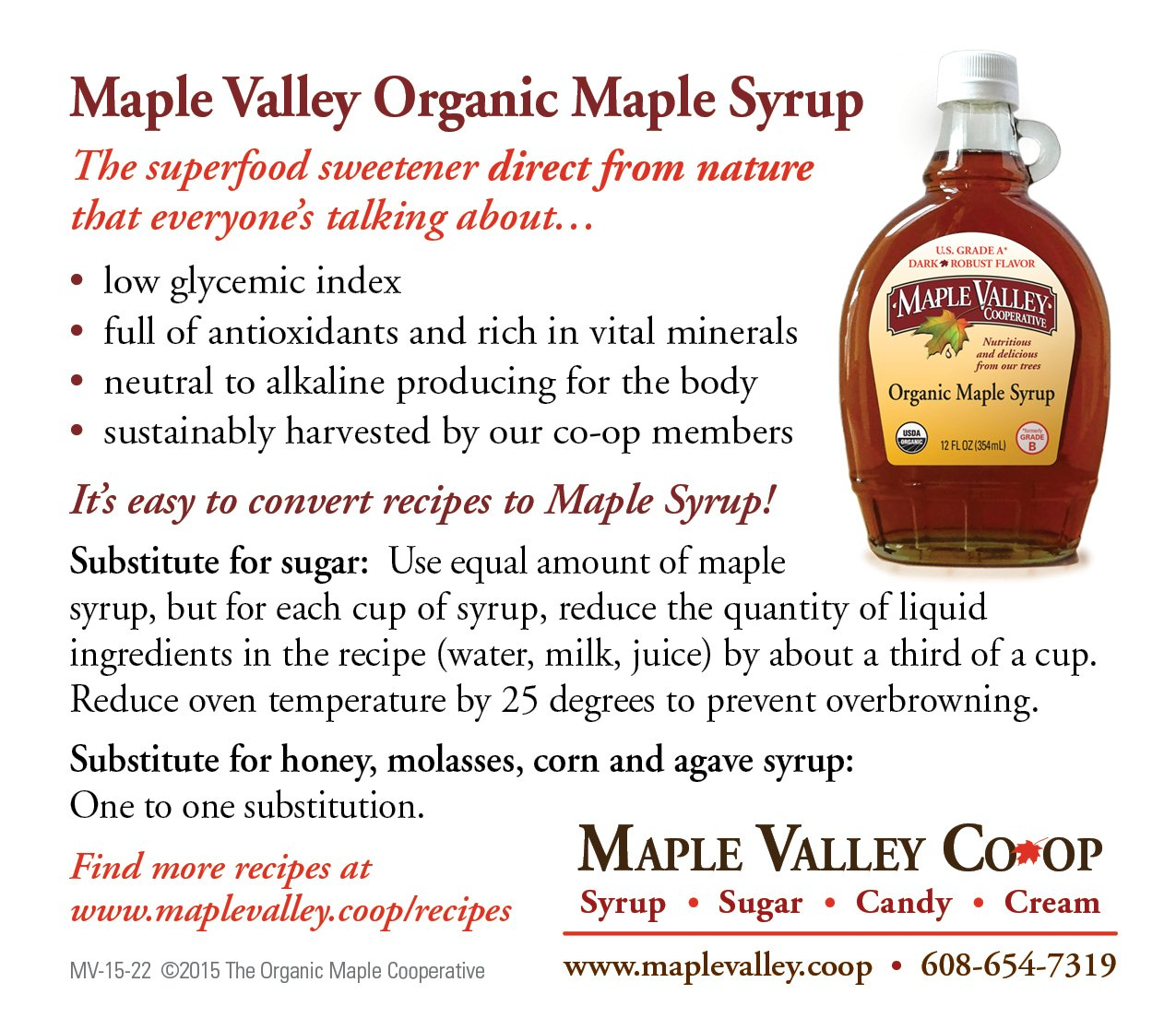 Maple Valley 16 Oz. Organic Maple Syrup - Grade A Amber Rich in Glass Decanter by Maple Valley