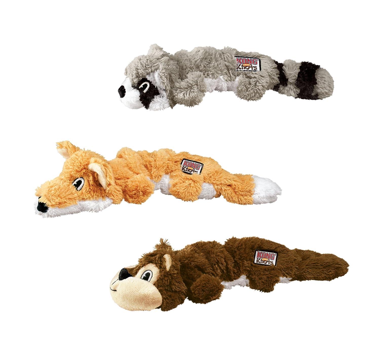Pet Supplies Pet Squeak Toys KONG Scrunch Knots Squirrel Dog