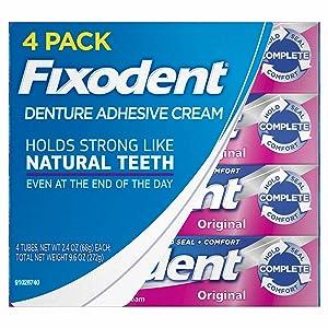 Fixodent Original Denture Adhesive Cream-2.4 oz, 4 pk