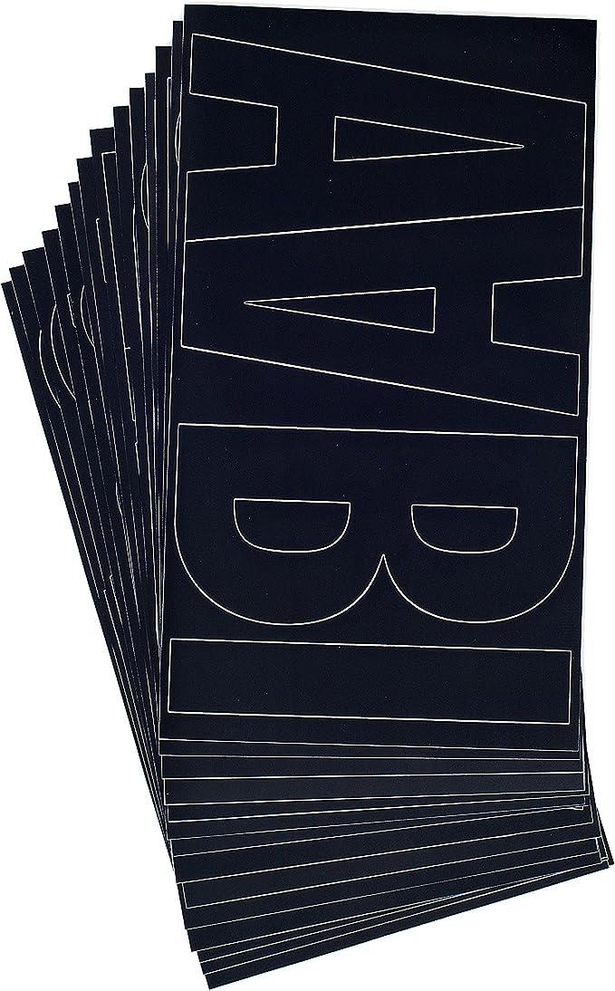 Amazon.com: Westcott Lettercraft letras de vinilo, 15,2 cm ...