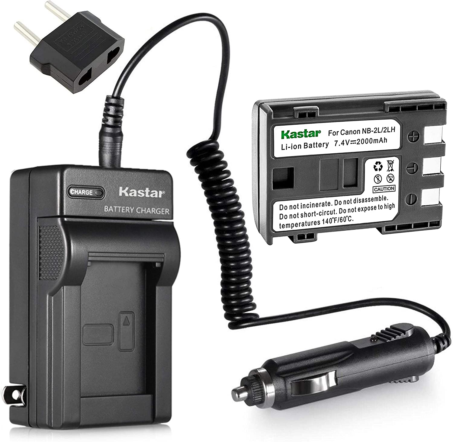 Halcyon 1700 mAH Lithium Ion Replacement Battery and Charger Kit for Canon VIXIA HF R100 2.39 MP Digital Camcorder and Canon NB-2LH
