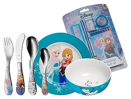 WMF 12.8600.9009 cubierto para niños Toddler cutlery set Azul, Multicolor Porcelana, Acero