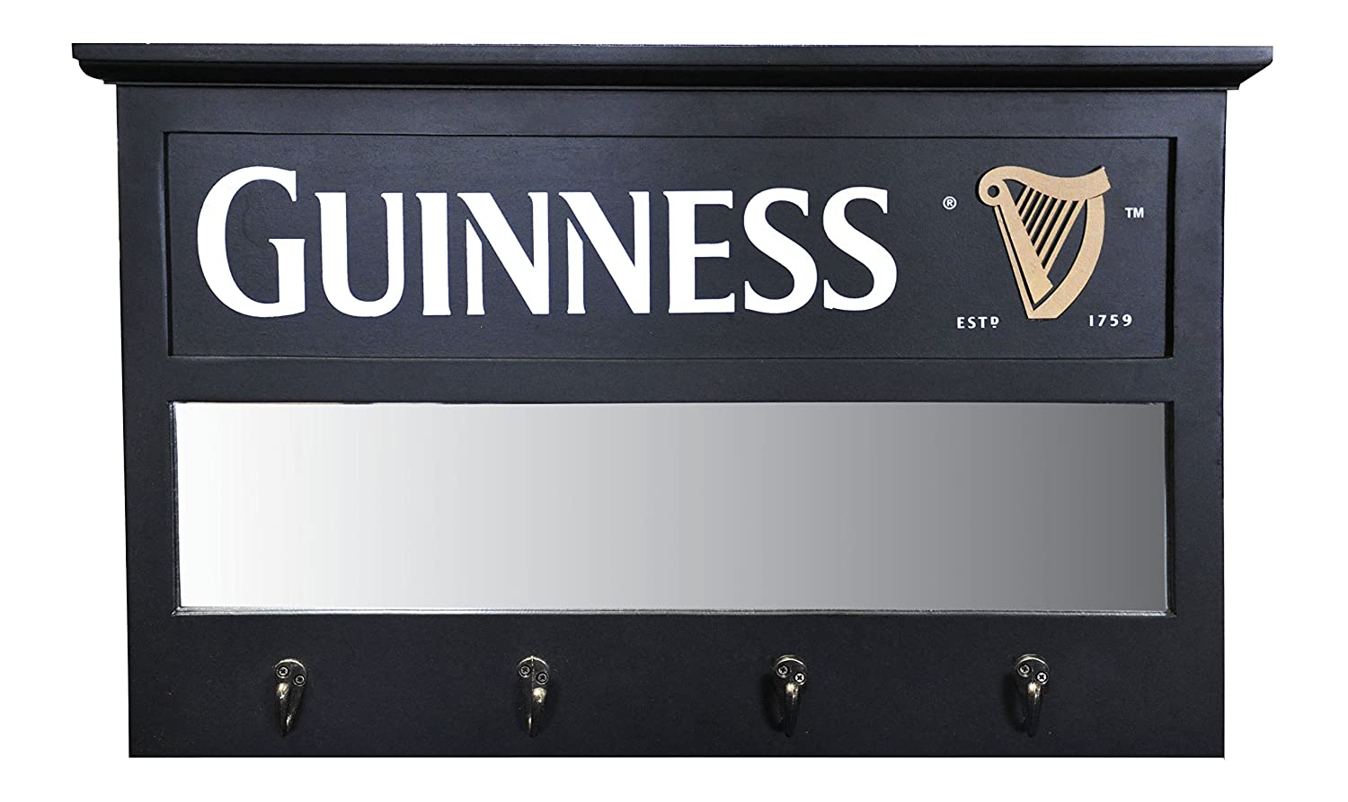 Guinness Coat Hanger with Mirror Insert Guinness Official Merchandise GNS1014