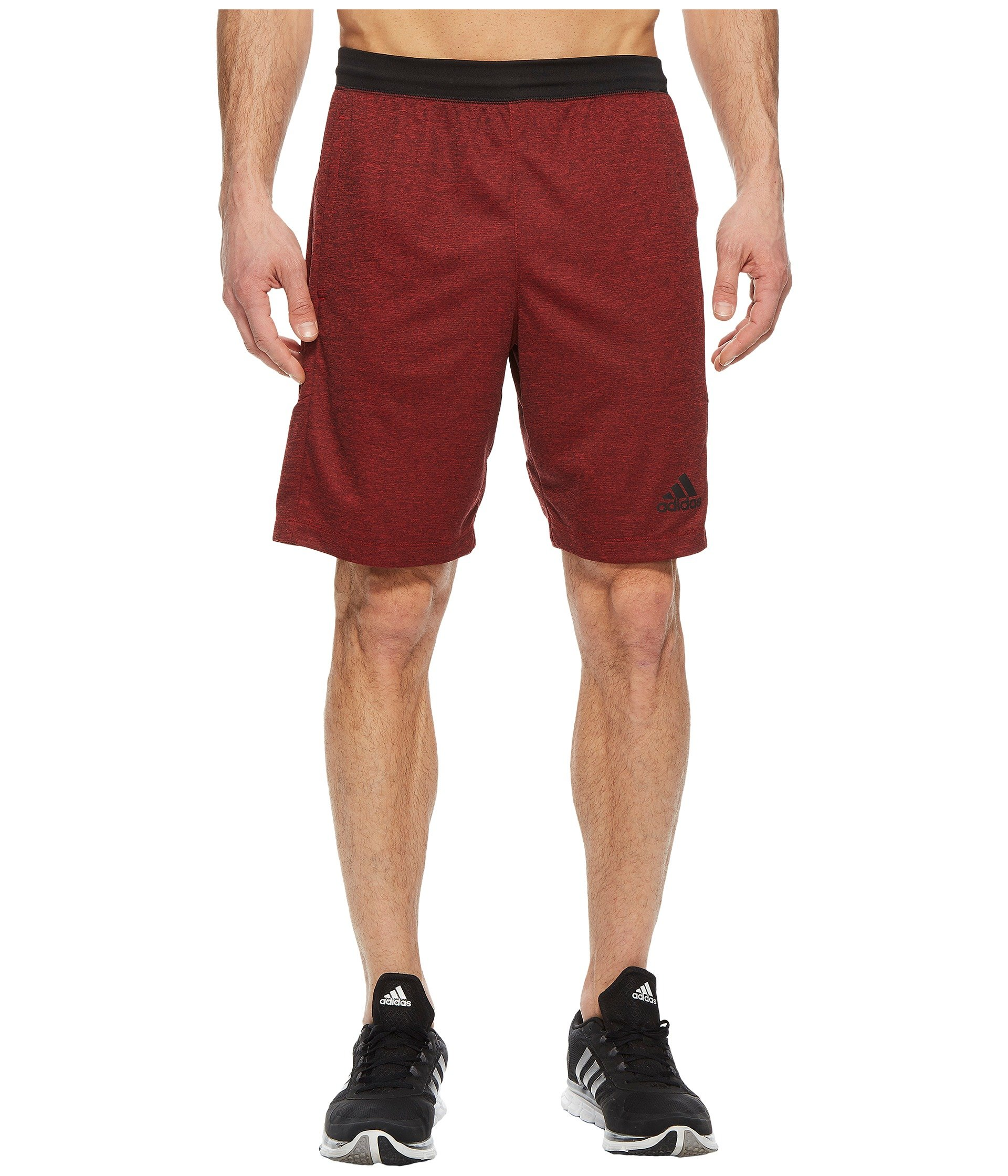 adidas Men's SpeedBreaker Hype Shorts Scarlet/Colored Heather Small 10