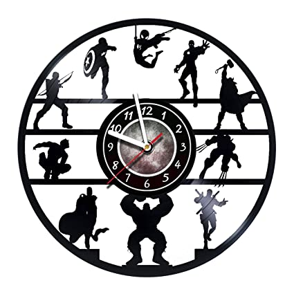 Iskra Shop Comics Band Vinyl Record Wall Clock - Avengers - Get unique living room wall