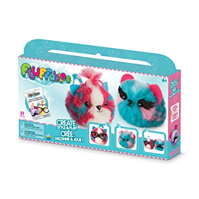 "The Orb Factory Fluffables Cherry & Blueberry Double Arts & Crafts, Blue/Pink/White, 11.75"" x 2"" x 6"": Toys & Games"
