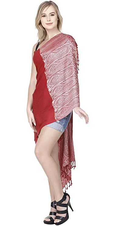 f59d5dd036 SKAVIJ Chal para Mujer Tejido Reversible Abrigo de la Bufanda para el  Banquete de Boda