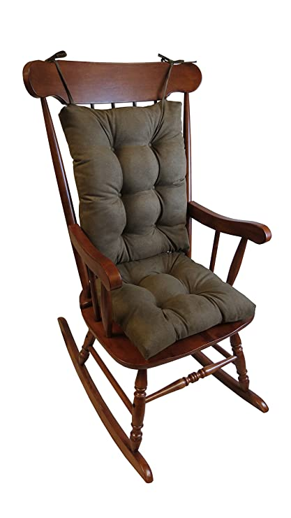 Elegant Klear Vu The Gripper Non Slip Rocking Chair Cushion Set Honeycomb, Chocolate