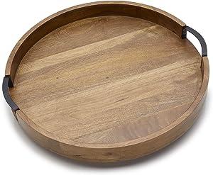 Gourmet Basics by Mikasa Lazy Susan Serving Tray, 18-Inch, Mango Round