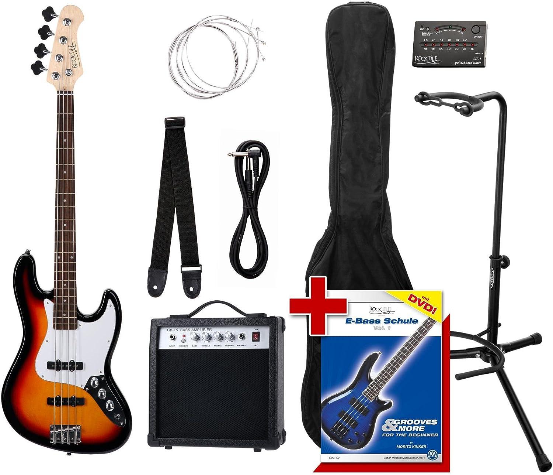 Rocktile Groovers Pack JB E-Bass Set II Sunburst